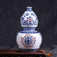 Blue and white ceramics Home Furnishing Arts and Crafts Bottle gourd vase