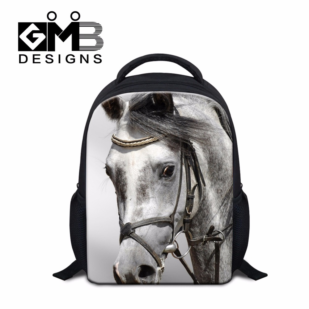 Small School Bags For Kids Childrens Horse Backpacks Cool Bookbags Kindergarten Boys Clear Lightweight Backng Bag S In From Luggage