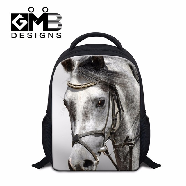 1e4ca4d6b032 Small School bags for Kids Childrens Horse Backpacks Cool Bookbags for  Kindergarten Boys Clear Lightweight Backpacking