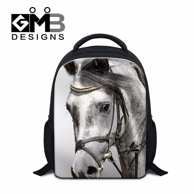 ae832ca906e Small School bags for Kids Childrens Horse Backpacks Cool Bookbags for  Kindergarten Boys Clear Lightweight Backpacking Bag girls