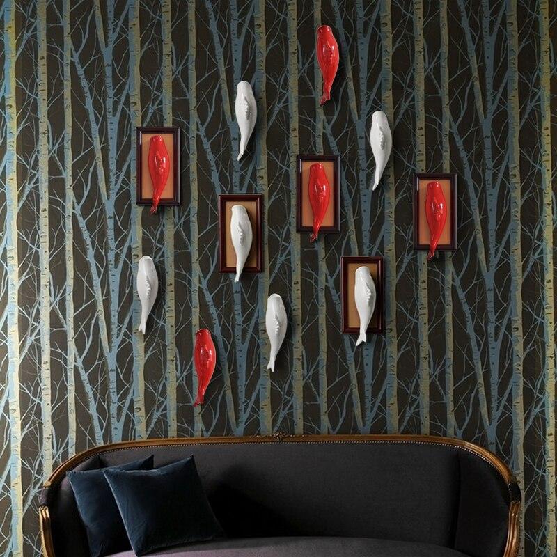 3D keramičke zidne ukrasne vaze u obliku europskog stila cvjetni - Kućni dekor - Foto 3