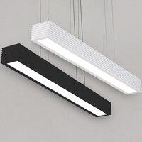 Современный минималистичный Креативный светодиодный офисный обеденный зал черно белая длинная Подвесная лампа
