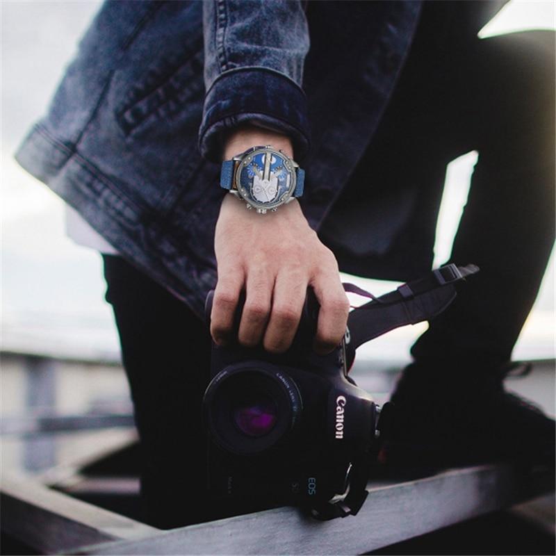 Beroemde Designer Heren Horloges Topmerk Luxe Quartz Horloge Oulm PU - Herenhorloges - Foto 2