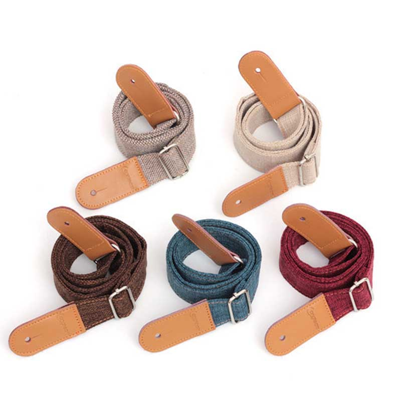 Linen Cotton Small Guitar Ukulele Strap Adjustable Belt With PU leather Ends For Ukulele Guitar Accessories SS ibanez gst62 bk guitar strap