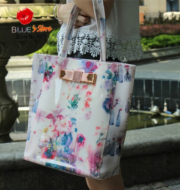 Free Shipping New Pink Erfly Ted Women Handbags Botanical Bloom Bow Candy Jelly Bag Fl