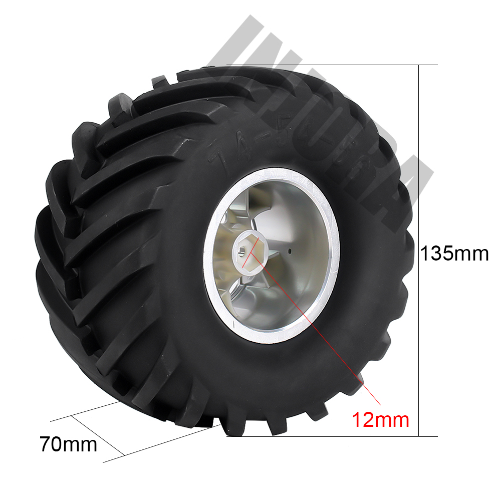 Image 5 - 4Pcs Wheel Rim Tire Set for 1/10 RC Monster Truck Traxxas HIMOTO HSP HPI Remote Control RC Truggy Car-in Parts & Accessories from Toys & Hobbies