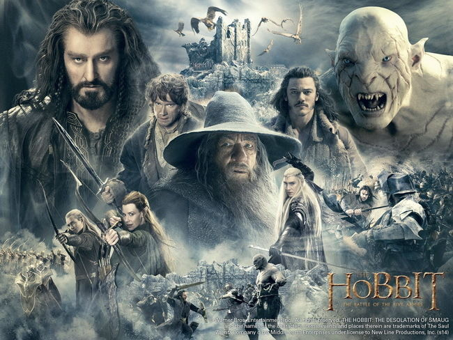 046 The Hobbit The Battle Of The Five Armies 2014 Movie Film 19 X14 Poster Film Poster Poster Hobbitmovie Poster Aliexpress
