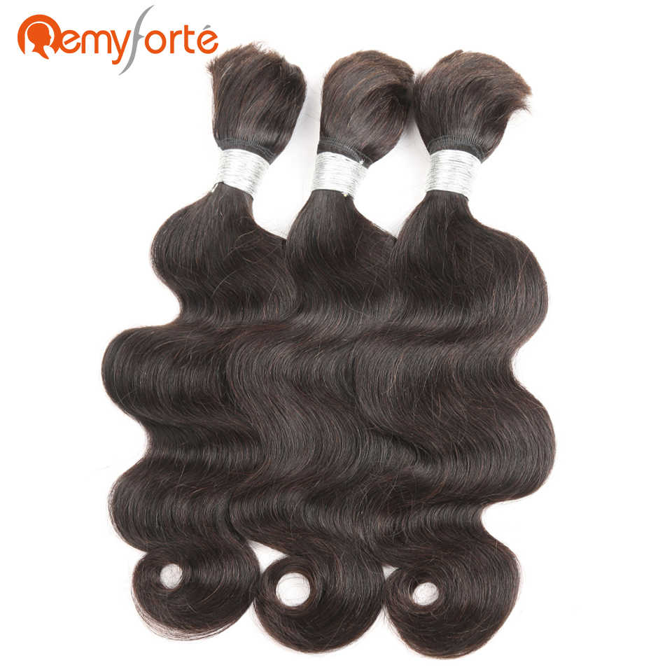 Remy Forte Haar 10 Tot 30 Inch Body Wave Braziliaanse Bulk Menselijk Haar Voor Vlechten Geen Inslag 3 Bundels Deal bulk Haak Human Hair