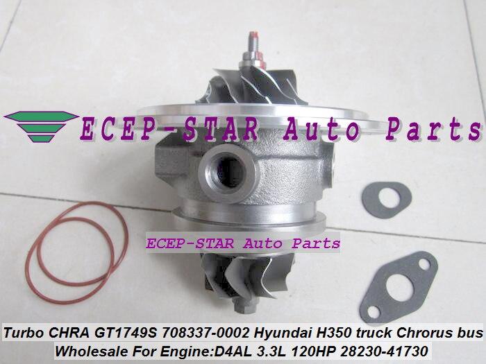 Free Ship Turbo Cartridge CHRA 708337 708337-0001 708337-0002 28230-41730 28230-41720 For Hyundai Truck H350 Chrorus D4AL 3.3L