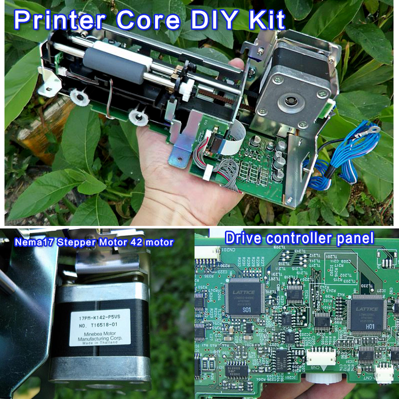 High-quality mini printer core DIY Kit with 4-lead Nema17 Stepper Motor 42 motor Speed Control PWM HHO RC Drive controller panel 20a universal dc10 60v pwm hho rc motor speed regulator controller switch l057 new hot