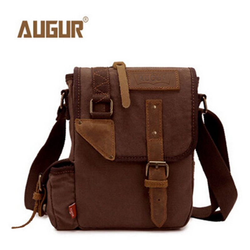 2016 New Men Canvas Small Mini Should Bags Flap Messenger Bag Brand Business Handbags Travel Handbag Bolso Size:24*17*6 cm 2.5L