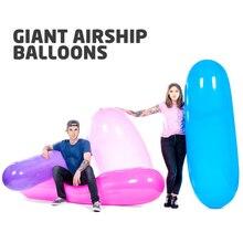 цена на Giant Zeppelin Airship Balloon 170cm 220cm GL1200 Long Rocket Riding Balloon Adult Ballon Inflatable Toys Party Decorations