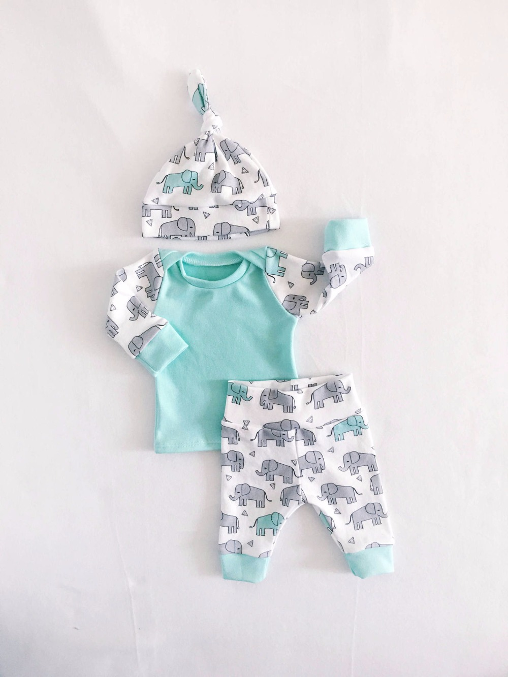 Elephant 2 piece baby cute boy clothing set stuff for newborns baby boy long sleeve Tops tees+caps+trousers baby clothes 1 year