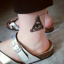 Waterproof Temporary Tattoo Sticker on body triangle eye totem tattoo for girl women men water transfer flash tattoo fake tattoo