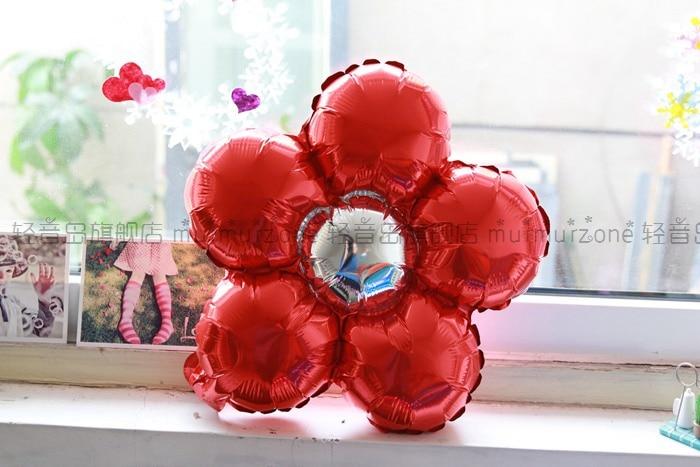 5st / lot 35cm Flerfärg blomma ballonger Flerfärg Ballonger Party - Semester och fester - Foto 4