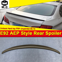 E92 2-door Hard top P style FRP Unpainted Rear Trunk spoiler wing For BMW 3 series 330i 335d 335i 325i 2006-13