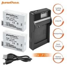 2X 1800mah LP-E8 LPE8 LP E8 Battery Batterie AKKU + LCD Dual Charger for Canon EOS 550D 600D 650D 700D X4 X5 X6i X7i T2i T3i L15