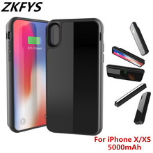 Portable Battery Charge Case 5000mAh External Power Case For iphone X XS Power Bank Battery Case Smart Wireless Charger Cover стоимость