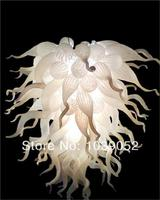 Factory Price Cheap Murano Lights Amber Glass White Chandelier