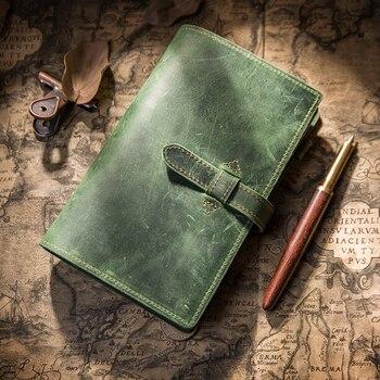 Yiwi classeur Vintage A6 A5 manuel bloc-notes de voyage en cuir carnet de notes en cuir