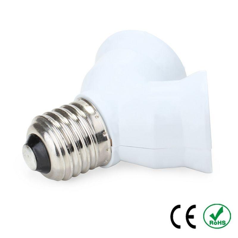 High Quality E27 To 2E27 Double Socket Lamp Base Lamp Holder Converter Adapter Copper LED Light Bulb Holder Extender Plug
