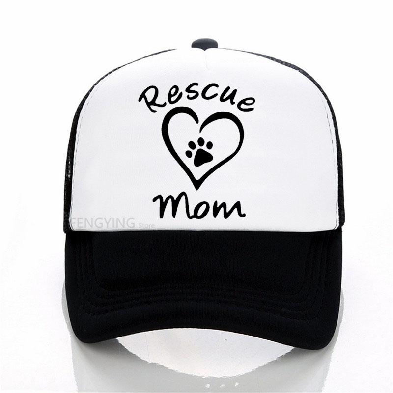 2a535fcc0a9 Unisex Paw Trucker Hat Home Is Where Dog Is Baseketball Caps Rescue Mom  Heartbeat Line Snapback Hats Hand Paw Mesh Caps