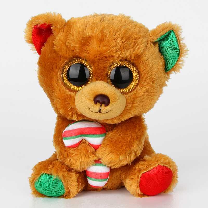 Ty Beanie Боос большие Средства ухода для век плюшевые игрушки куклы медведя ty для Набивные плюшевые игрушки бурый медведь с конфеты, куклы Игру...