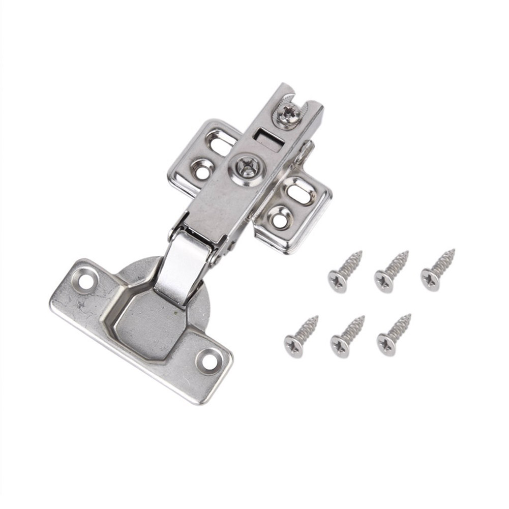 Damper Buffer For Cabinet Cupboard Closet Wardrobe Furniture Universal Kitchen Bedroom Hinge Stainless Steel Door Hinges J2Y 4pcs naierdi c serie hinge stainless steel door hydraulic hinges damper buffer soft close for cabinet kitchen furniture hardware