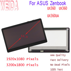 13.3 ''LCD ekran dla ASUS Zenbook UX360 UX360U UX360UA LCD dotykowy digitizer montaż FHD panel wyświetlacza w Ekrany LCD i panele do tabletów od Komputer i biuro na