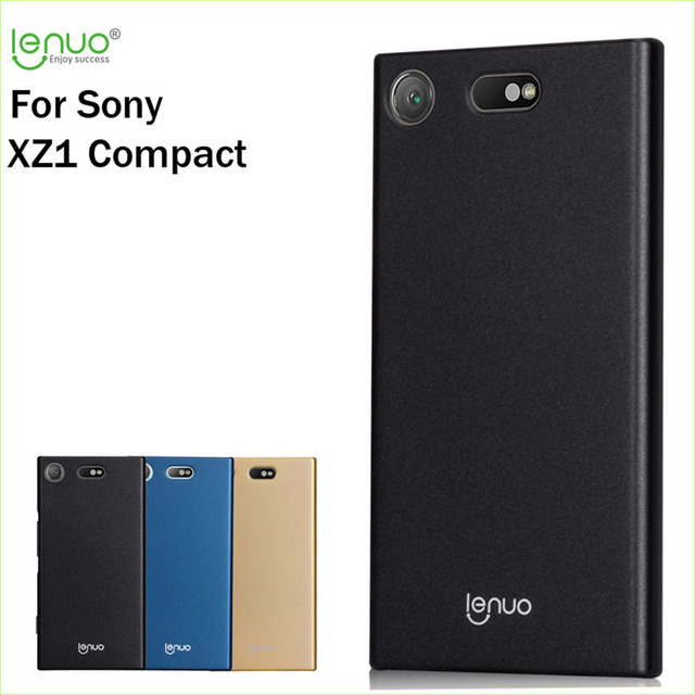 brand new 8a318 c8648 US $6.65 |For Sony Xperia XZ1 Compact Cover Original Lenuo Hard Case Hight  Quality Phone Shell For Sony Xperia XZ1 Compact Case-in Fitted Cases from  ...