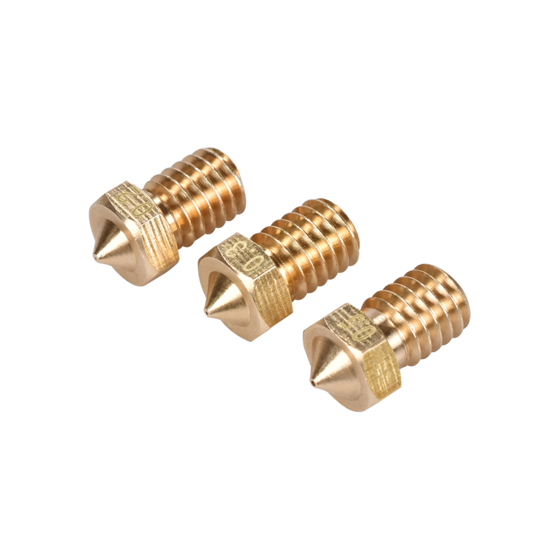 5/10PCS 3D Printer Parts 3D V6&V5 J-Head 3D Brass Nozzle Extruder Nozzles 0.2/0.25/0.3/0.4/0.5/0.6/0.8/1.0 Mm For 1.75/3.0mm