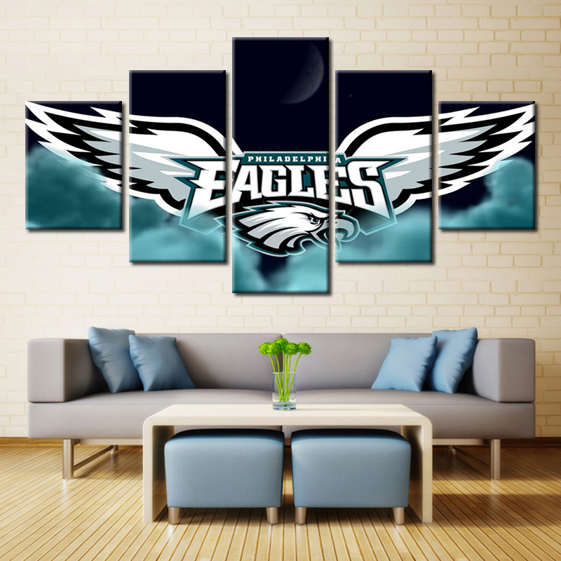 Amazing 5 Pieces Philadelphia Eagles Wall Art Picture Modern Home