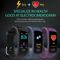 Bluetooth Smart Watch ECG+PPG Blood Pressure Heart Rate Sports Health Bracelet