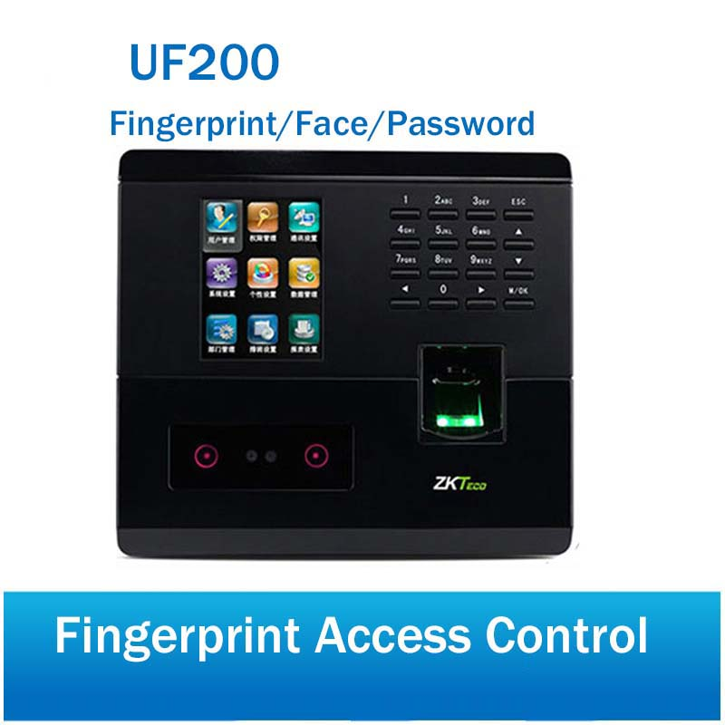 Face Employee Time Clock UF200 Support Face Fingerprint PSD Indentification ZKFace VX7.0 Employee Time Tracker Free SDK