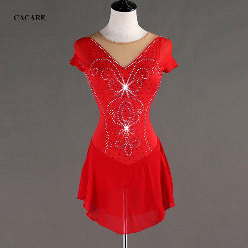 Robe de patinage artistique personnalisée robe de danse latine femmes Salsa latine robes de danse Standard justaucorps de danse D0596 strass