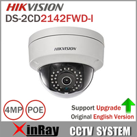 4MP IP CamerDS 2CD2142FWD I Original HIK IP POE Camera Day Night Infrared IP67 IK10 Protection