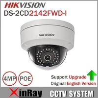4MP IP CamerDS 2CD2142FWD I Original HIK IP POE Camera Day Night Infrared IP67 IK10 Protection