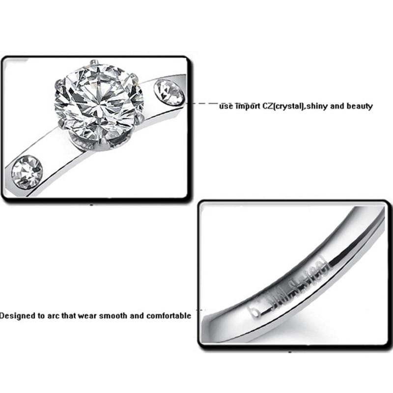 高品質316 Lチタン鋼ファッションCZ - ファッションジュエリー - 写真 4