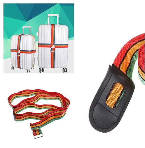 1pcs Cross Luggage Packing Belt Adjustable Straps Travel Trolley Suitcase Personalized Safe Parts Items Accessories 4.5m