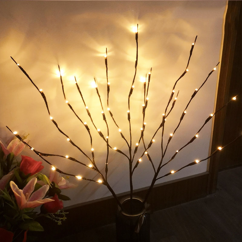 LED Night Light DIY Home Decorative 20 Heads Twig Tree Lights Floral String Christmas Party Garden Decor Desktop Gifts In From