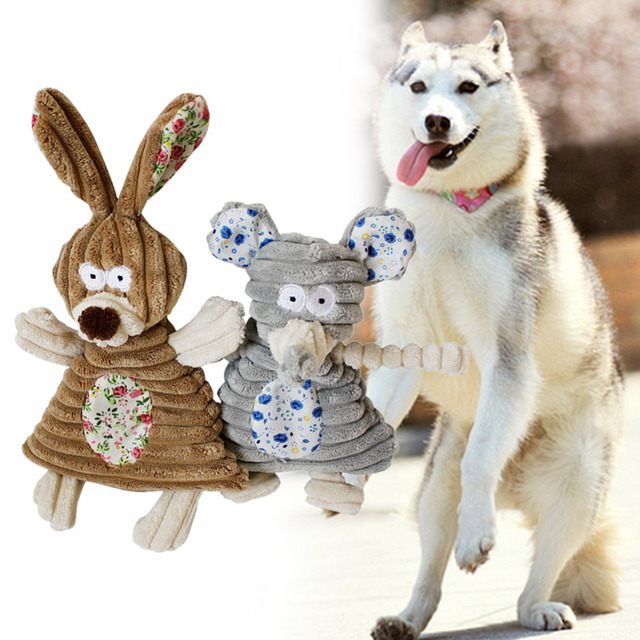 1PC Dog Toys Elephant Stuffed Soft Pet Dog Chew Squeaker Squeaky Sound Toys for Dogs Cat Kitten Pet Products