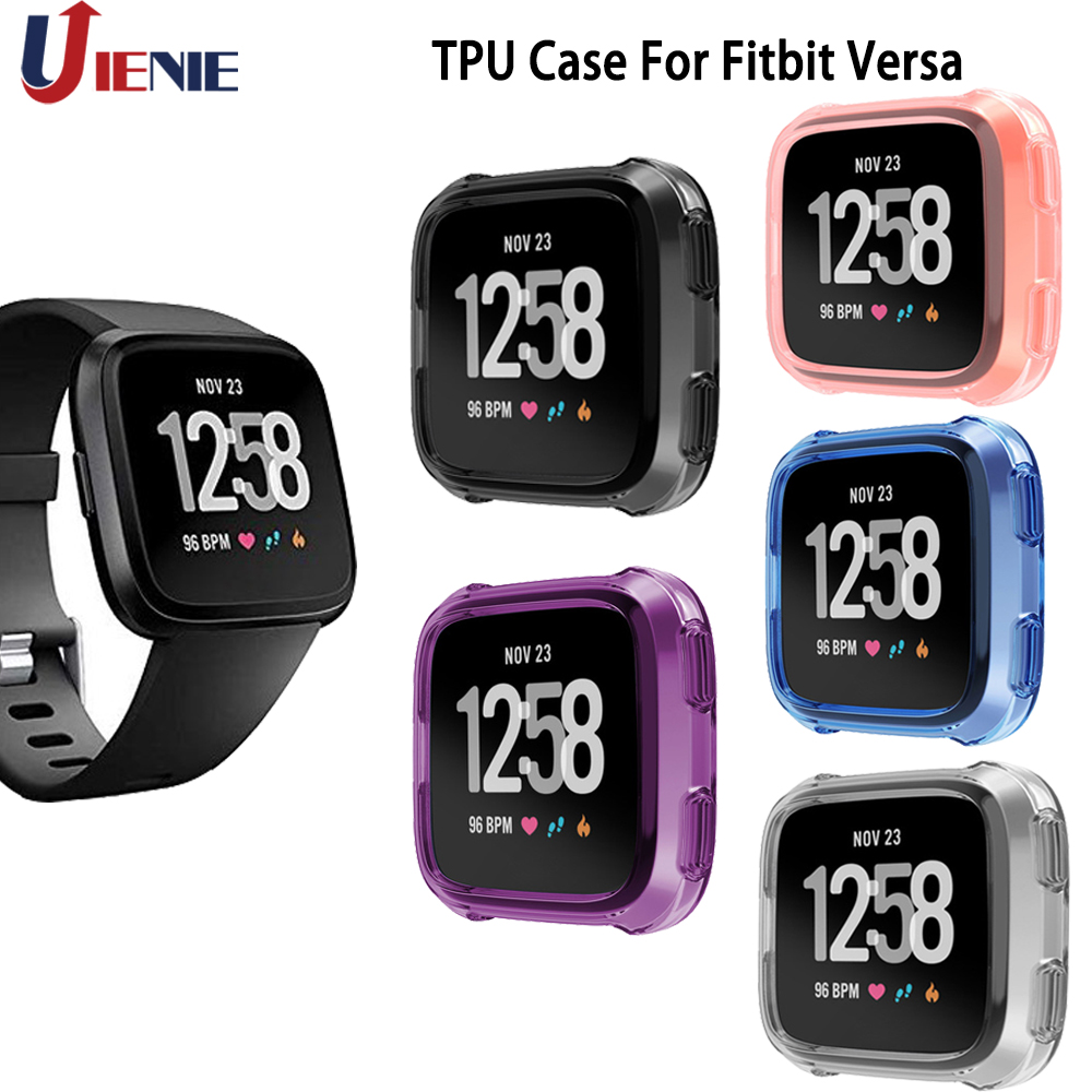 TPU Protective Case Shell Frame For Fitbit Versa Smart Watch Protector Soft Smartwatch Cover Ultra-thin Soft TPU Silicone