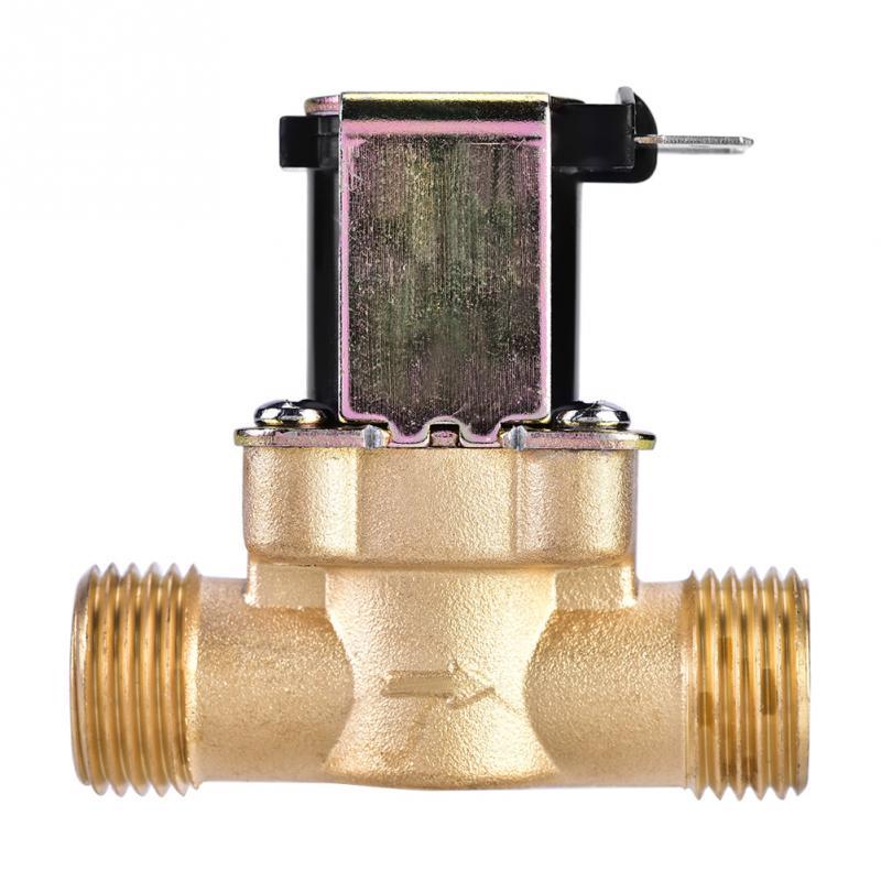 Válvula magnética solenoide elétrica normalmente fechado latão para controle de água dc 24 v 3/4 polegada dc 24 v 1/2 polegada ac 220 v 1/2 polegada 3 tipo
