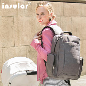 Nappy Bag Diaper-Bag Baby Care Mummy Waterproof Business-Backpack Large-Capacity Pure-Color