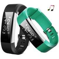 Горячая Смарт-браслет id115 плюс Smart Band Шагомер фитнес-браслет, трекер активности MP3 умный браслет PK fitbit PK Mi band 2
