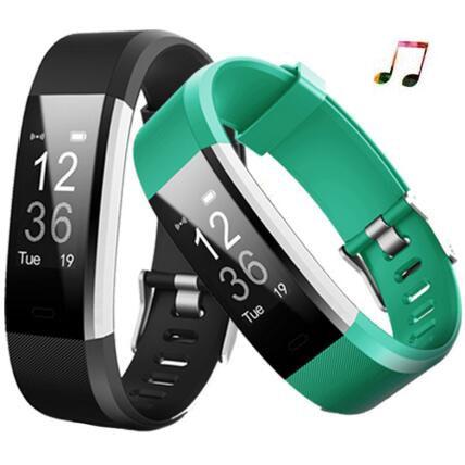 New Smart Bracelet ID115plus Heart Rate Smart Wristband Smart band Fitness Tracker Watch Men PK mi band 2 Pk xiaomi mi band 3