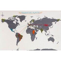 Kreuz Stich Welt Karte der Welt Stickerei Hand Reise Karte DIY Büro Shcool Dekoration Karte Broider Farbe Linie Mark