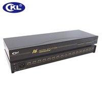 CKL 1x16 HDMI Splitter Rack Mount Metal Case Supports HDMI 1.4V High Resolution 3D 1080P for Xbox PS3 PS4 PC DV DVD HDTV HD 916