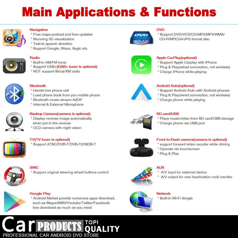 アウディ A3 8 1080P S3 2003 〜 2012 MMI HD IPS DSP ステレオ Android のカー DVD GPS ナビ地図マルチメディアプレーヤーラジオ WiFi BT システムヘッドユニット
