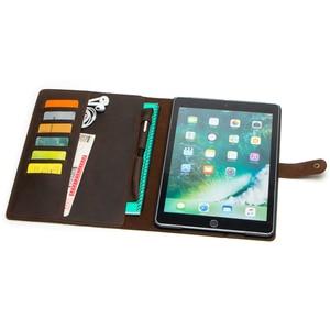 Image 3 - Étui en cuir Nubuck rétro de luxe pour iPad 9.7 2018 5 6 Air 2 Pro 9.7 couverture avec fentes pour cartes porte crayon de poche étui à rabat